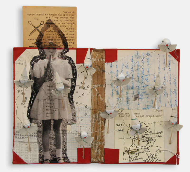 Book Collages Using Collage Image Transfer And Sewing