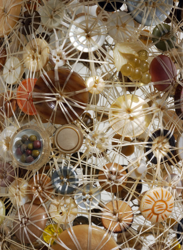 Lisa kokin art made from found buttons for Mobilia gallery cambridge ma