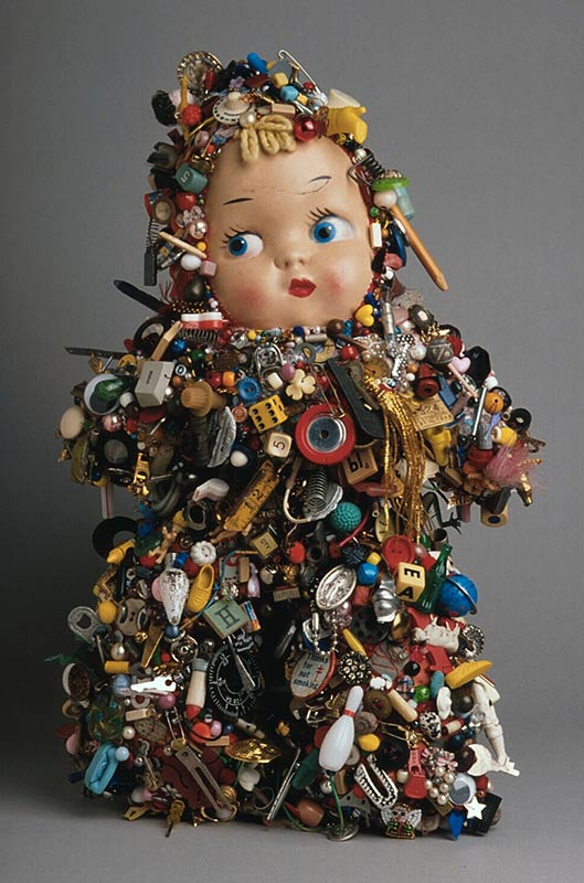 Lisa Kokin Mixed Media Sculpture With Recycled Materials